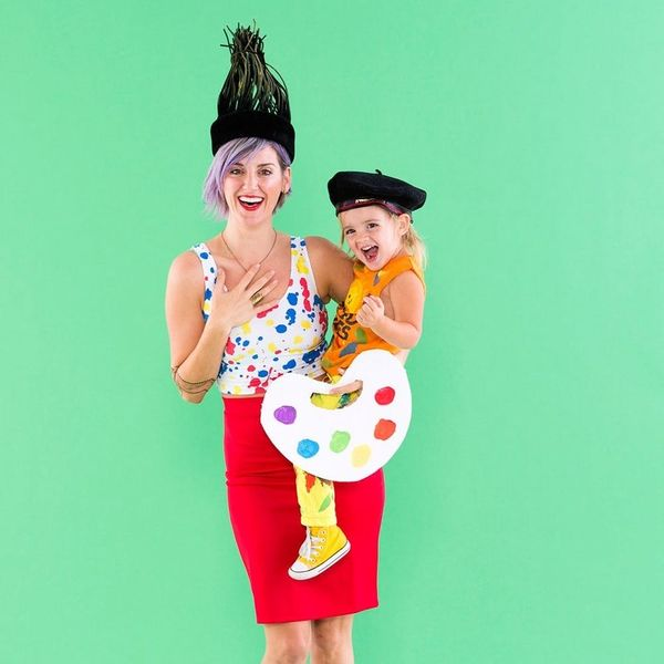 Get Colorful Paintbrush and Paint Palette Costumes for Moms and Toddlers