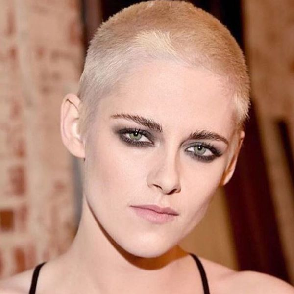 Kristen Stewart Debuts Shaved Blonde Hairstyle on the Red Carpet