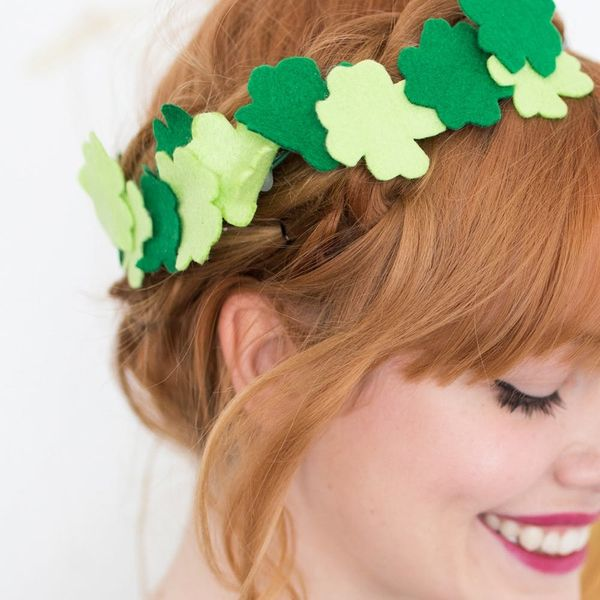 Get Ready for St. Patrick's Day With This Fancy Clover Crown