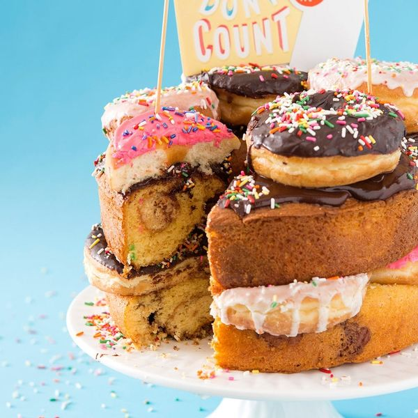 This 4-Layer Donut Cake Is What Birthday Dreams Are Made Of