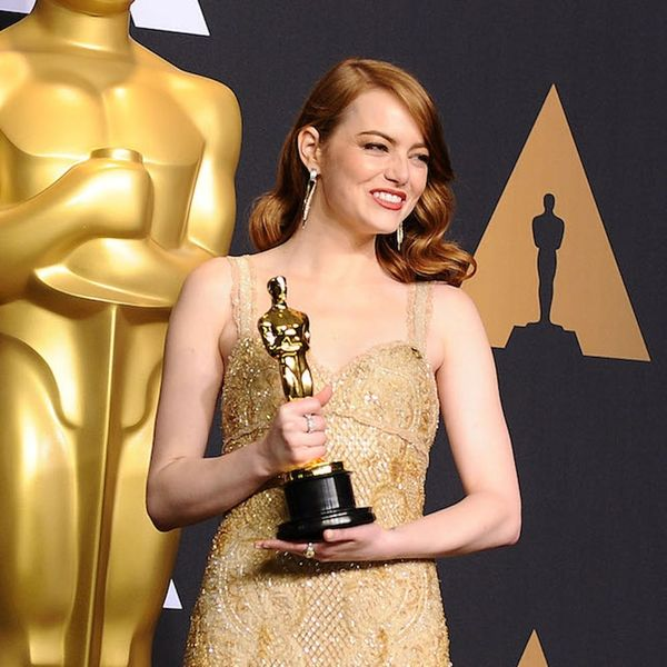 Here's the Exact Shade of Emma Stone's Brick-Red Lipstick for the Oscars