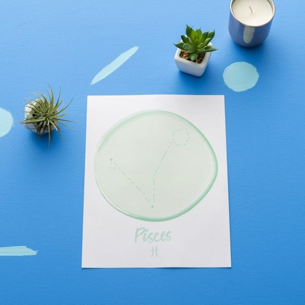Download This Pisces Zodiac Wall Art for Your Creative Space