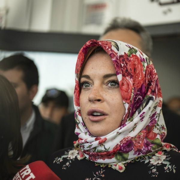 """Lindsay Lohan Says She Was """"Racially Profiled"""" for Wearing a Headscarf"""