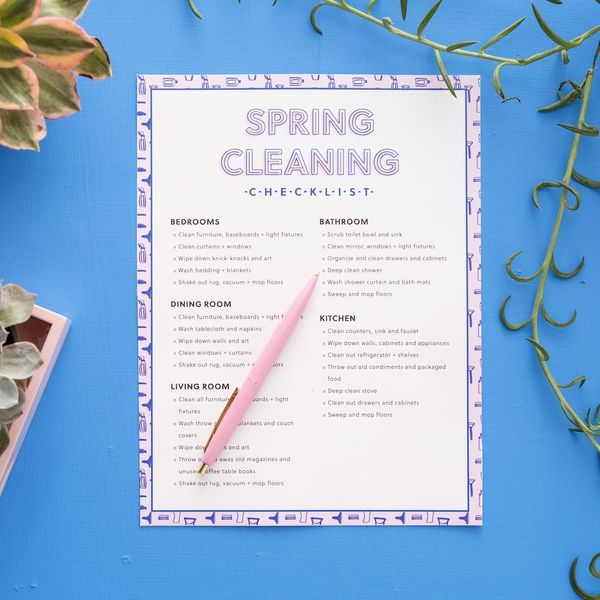 This Free Spring Cleaning Checklist Will Make Your Apartment So Fresh and So Clean