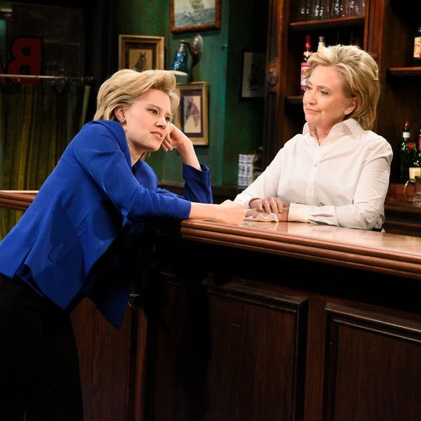 Nasty Women Unite As Hillary Clinton and Kate McKinnon Spend a Night in NYC Together