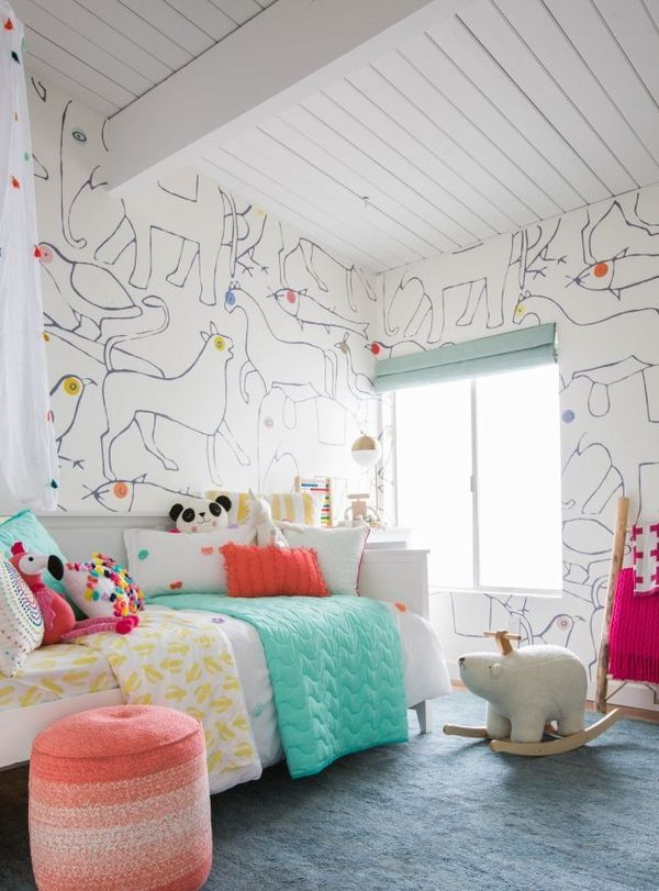 Emily Henderson's Nursery-Turned-Kids-Room Is a Modern Woodland Dream