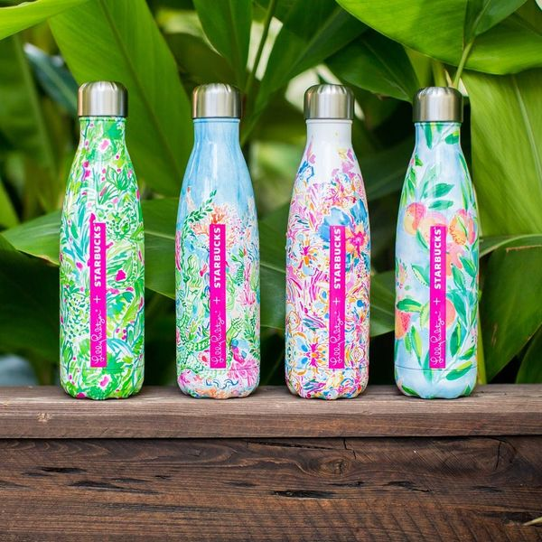 Lilly Pulitzer x Starbucks Teamed Up to Make the Prettiest Water Bottles