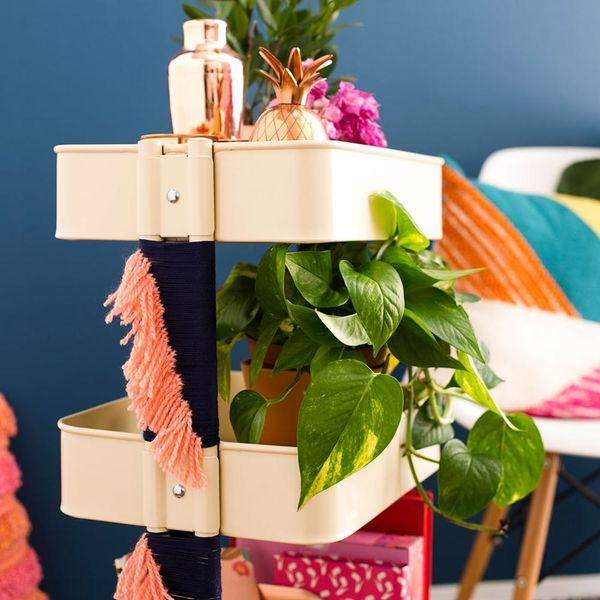 Tassel Lovers, This Bar Cart IKEA Hack Is Your Next DIY