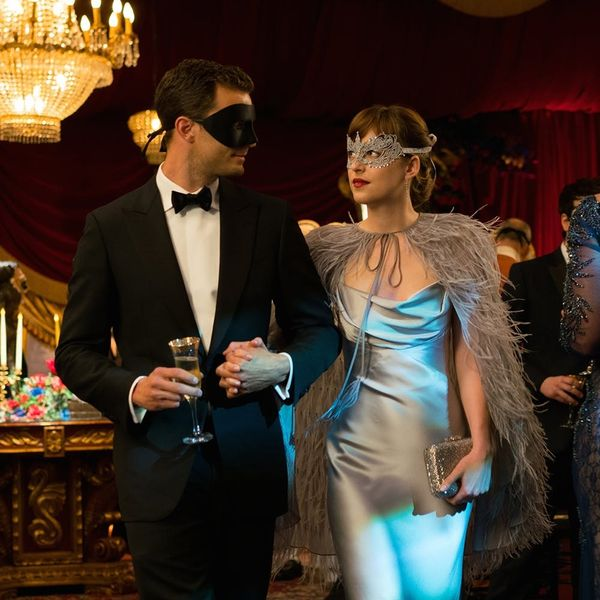 You'll Never Guess Who Designed Anastasia Steele's Slinky Gray Dress from 50 Shades Darker