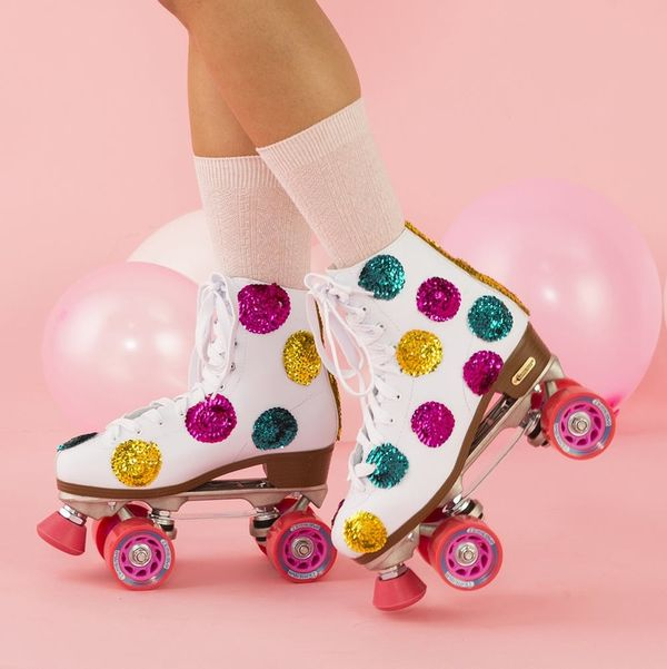 Roll Back to the '80s With a Pair of DIY Sequin Skates