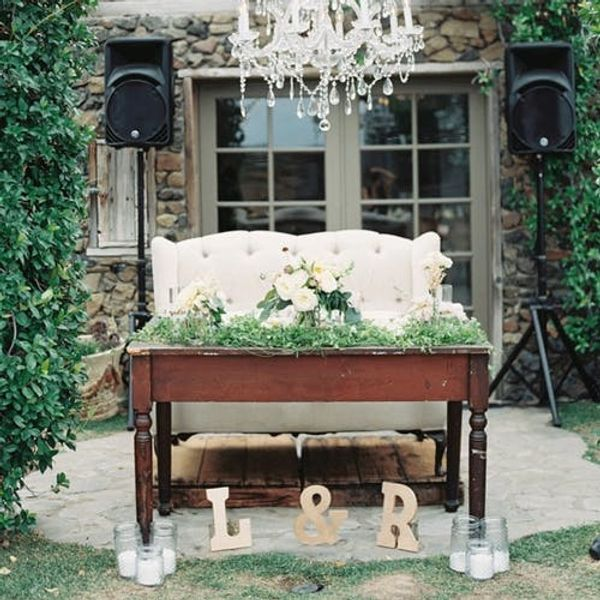 10 Standout Wedding Sweetheart Table Chair Ideas