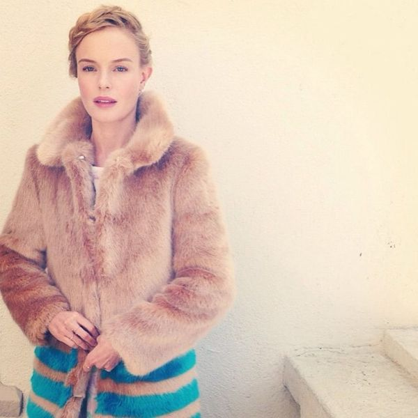 Here's How to Rock Color-Block Fur, According to Celebs