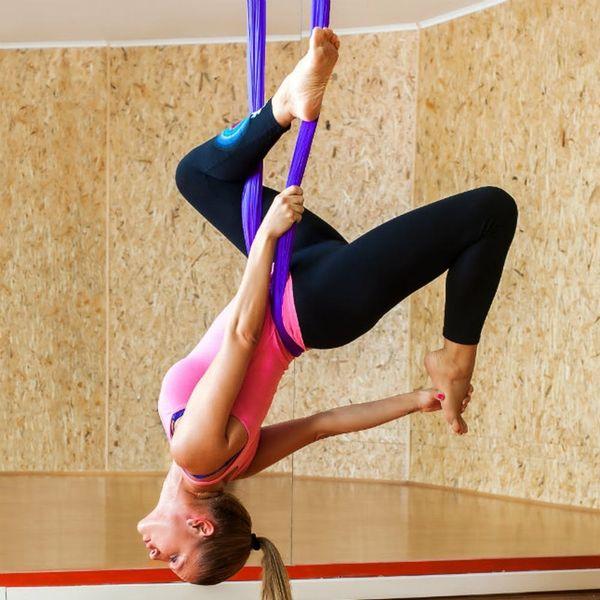 I Took an Anti-Gravity Yoga Class + It Was Exhilarating