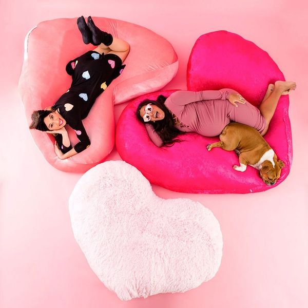 Enter the Ultimate Comfort Zone With These DIY Heart Floor Pillows