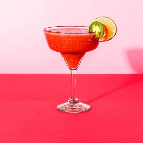 Spice Up Your Valentine's Day With Strawberry Jalapeño Margaritas
