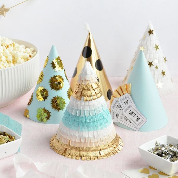 DIY Your Own Glam Party Hats for the Oscars