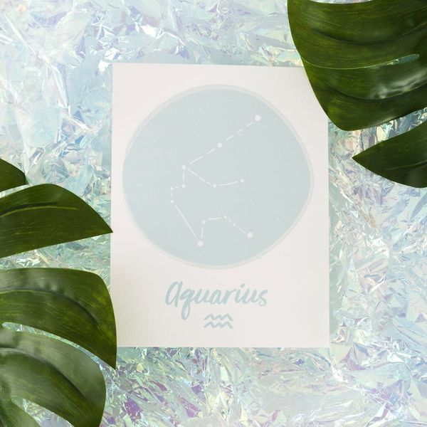 Download This Aquarius Zodiac Wall Art for Your Gallery Wall