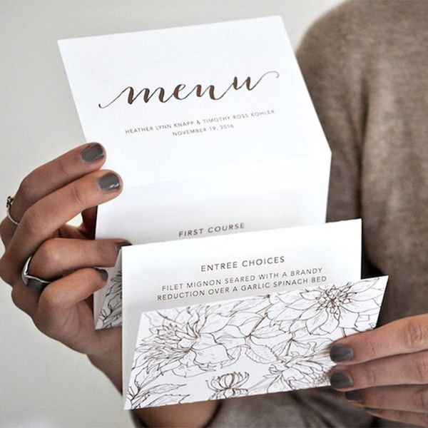 20 Modern Wedding Menu Ideas That Are Totally Unique