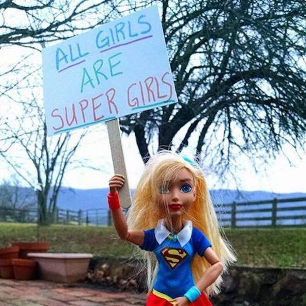 This Father Helped His Daughter Create Her Own Women's March With Barbie Dolls