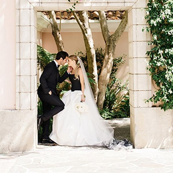 This Classic Black + White Bel Air Wedding Is Pure Gold