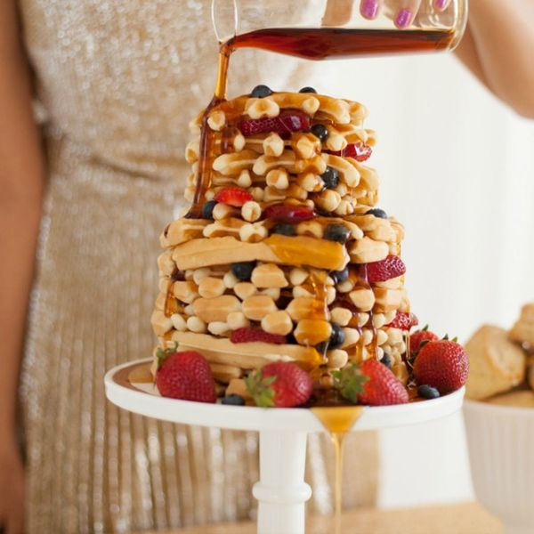 17 Wild Waffle Wedding Cakes That Make Us Want Waffle Cakes for *Every Occasion*