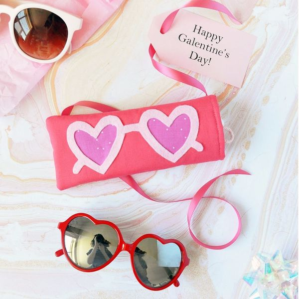 DIY These Heart-Shaped Sunglasses Cases This Galentine's Day