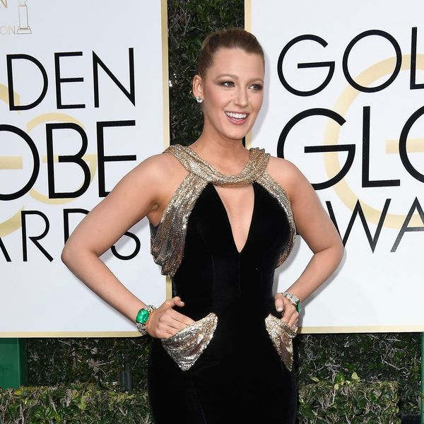 Blake Lively's Golden Globes Hairstyle Is Actually Just a Fancy Ponytail
