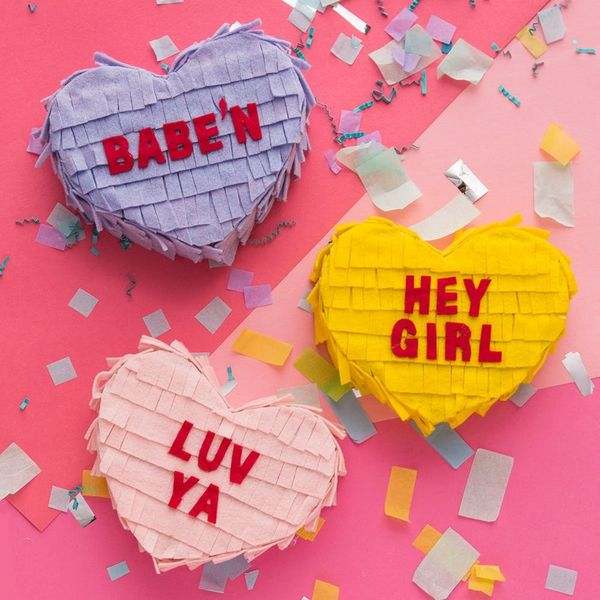 Make These Conversation Heart Piñata Care Packages for Your BFFs
