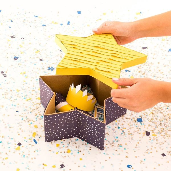 This DIY Piñata Party Box Is the Ultimate New Year's Eve Party Favor