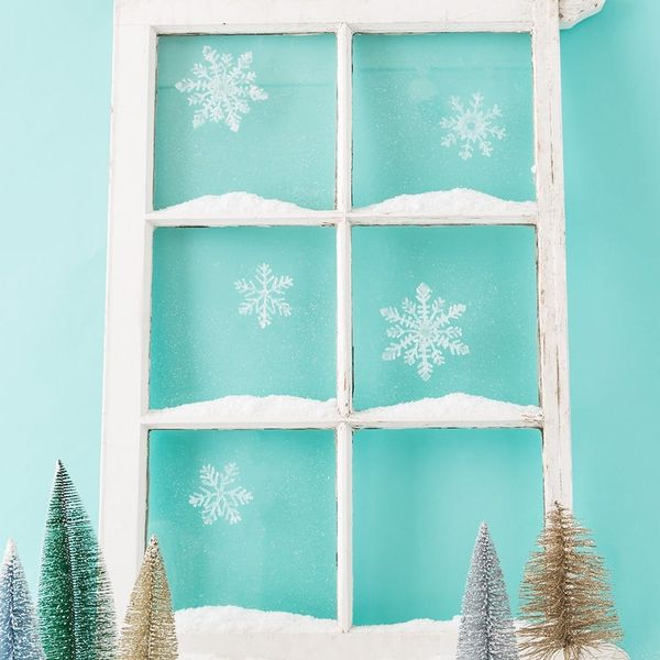 Frost Up Your Windows With These Easy 2-Step Snowflakes
