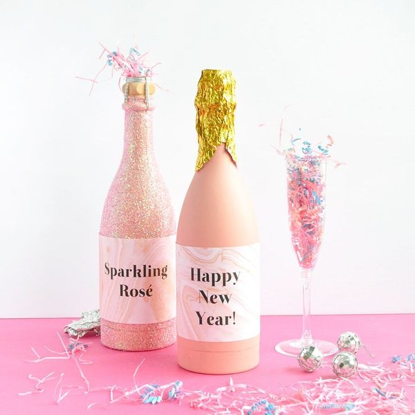 DIY These Sparkling Rosé Confetti Poppers for New Year's Eve