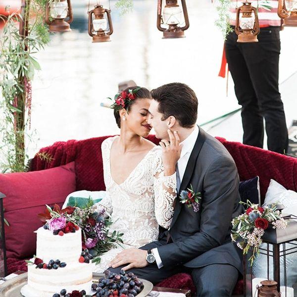 The Dreamiest Romantic Gondola Wedding Inspiration for Winter