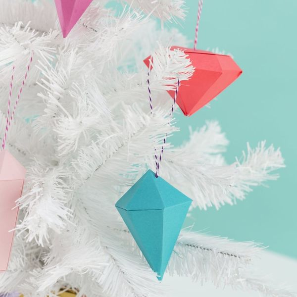 Free Printable Friday: Colorful 3D Gem Ornaments