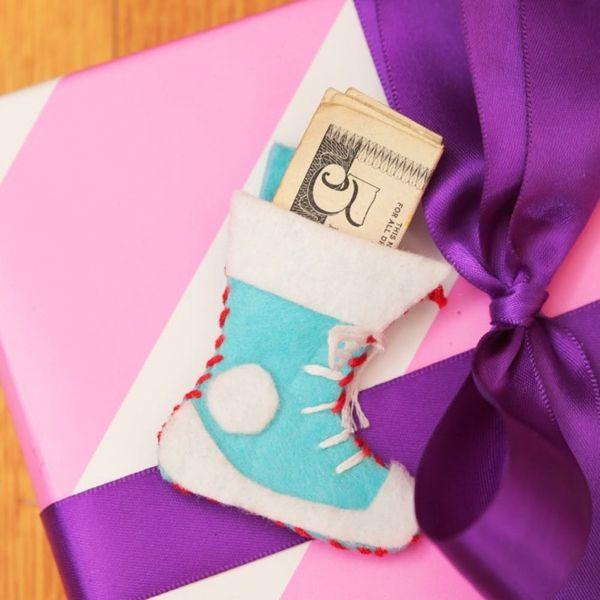Make It Mini: A Festive Stocking Gift Topper for Your Presents