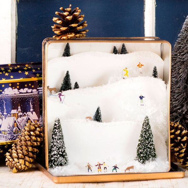 Take Your Mini Obsession One Step Further With a Tin Box Ski Slope
