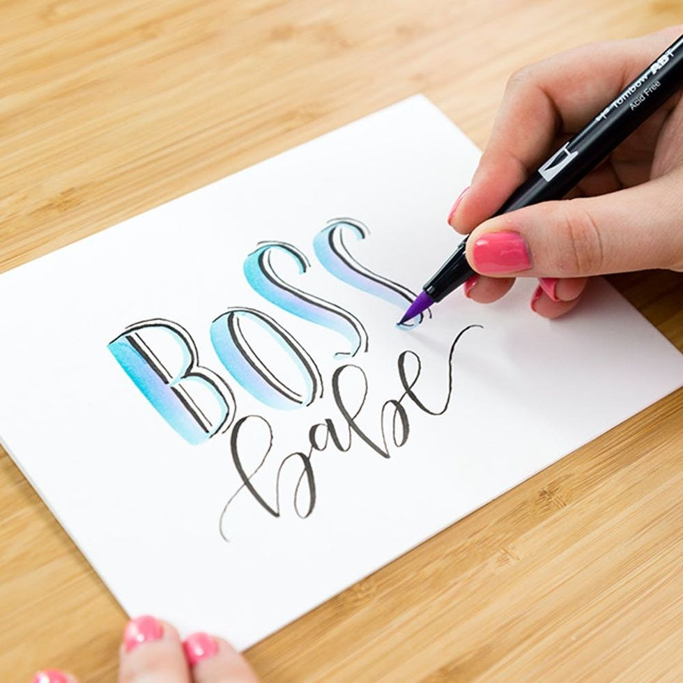 How Do You Do Bounce Lettering? Learn This Fun, Quirky Brush Lettering Style Today!
