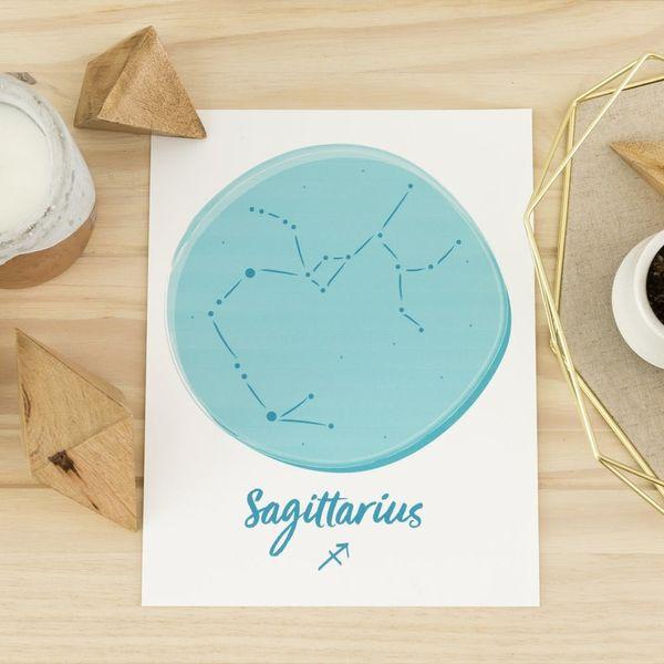 Free Printable Friday: Sagittarius Zodiac Wall Art