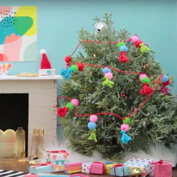 Make It Mini: A Tiny Tassel Tree Garland
