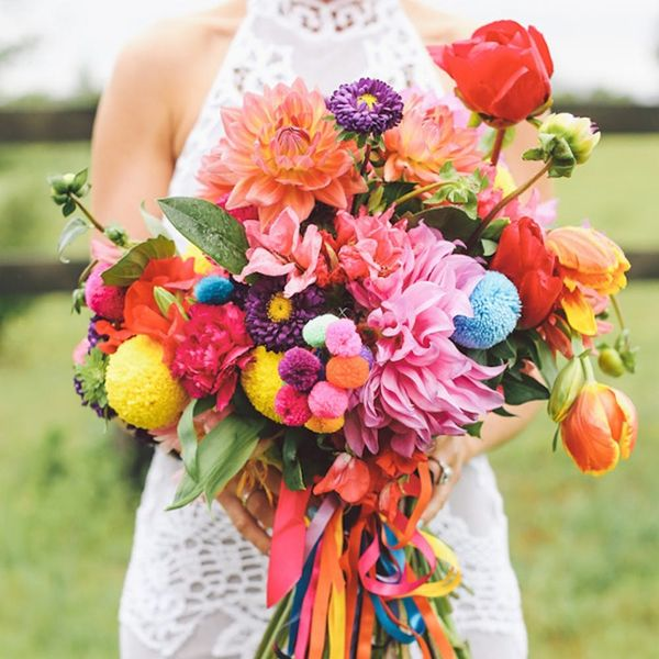 24 Bright + Colorful Wedding Ideas to Save for Spring
