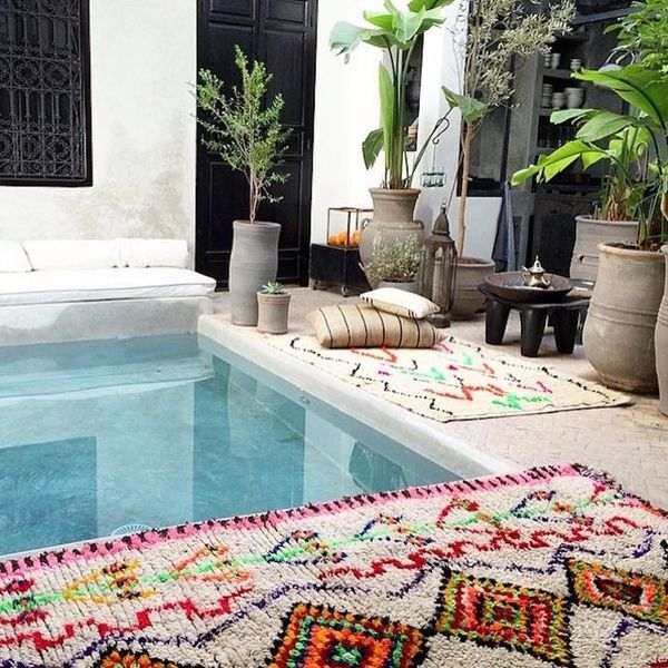 This New Pinterest Rug Trend Will Bring Both Color + Texture to Your Home