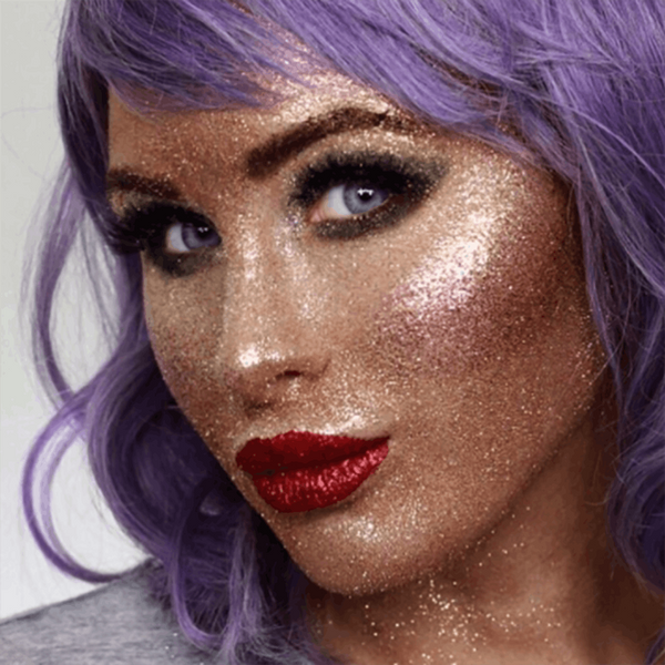 This Beauty Vlogger Created an Entire Makeup Look Using ONLY Glitter