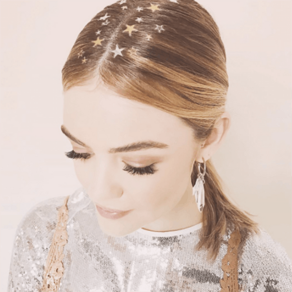 Lucy Hale's New Hair Tattoo Is the Perfect Holiday Party Look