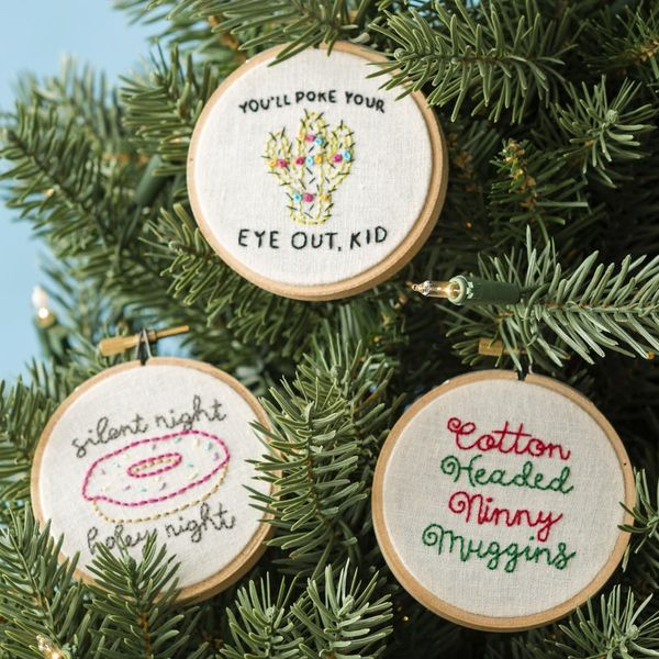 These DIY Embroidered Ornaments Will Add Personality to Your Tree This Year