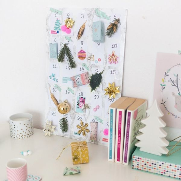 This Colorful DIY Advent Calendar Doubles As Cute Holiday Decor