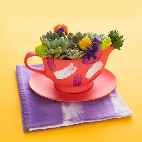 Thanksgiving Hack! How to Turn a Gravy Boat into a Succulent Planter
