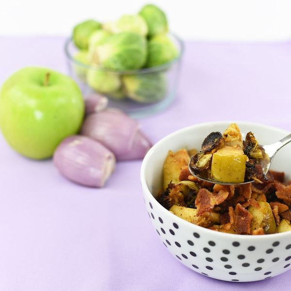 Upgrade Your Thanksgiving Side Dish Game With This Bacon, Apple and Brussel Sprouts Hash Recipe