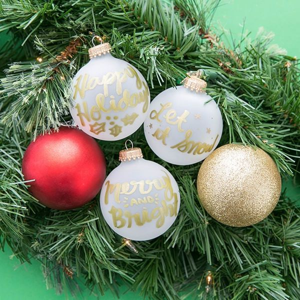 DIY Holiday Ornaments With This FREE Lettering Guide