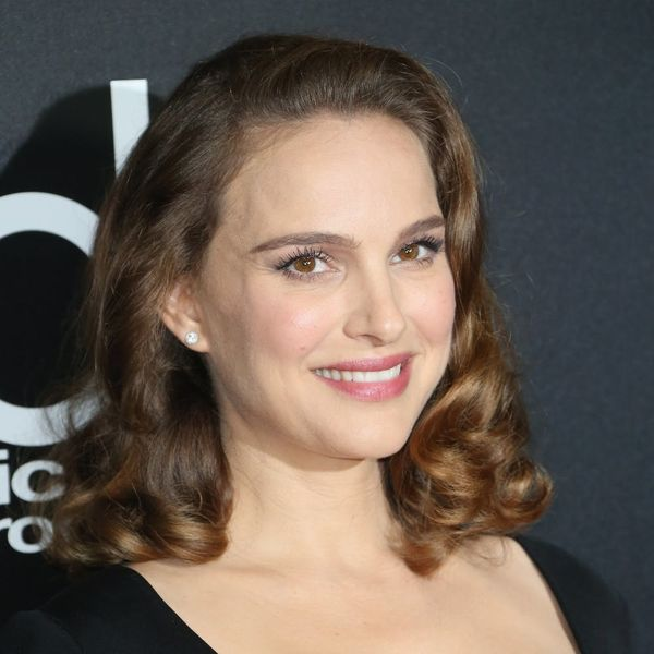 Natalie Portman Shows Off Her Baby Bump in a Form-Fitting LBD