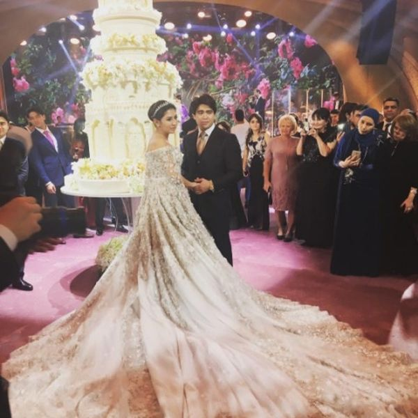 This Wildly Luxe Wedding Included a $600K Dress, Private Jet and 10-Foot Tall Cake