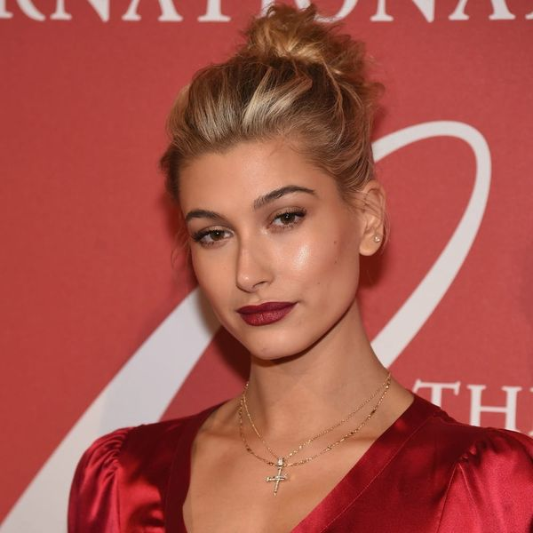 Hailey Baldwin's New Pretty-in-Pink Locks Are Fall #HairGoals